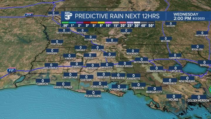 12 Hour Rain Forecast