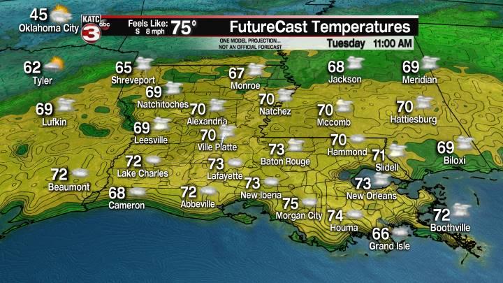 24 Hour Temperature Forecast
