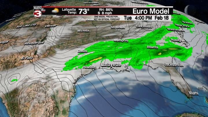 European Model Forecast Day 1