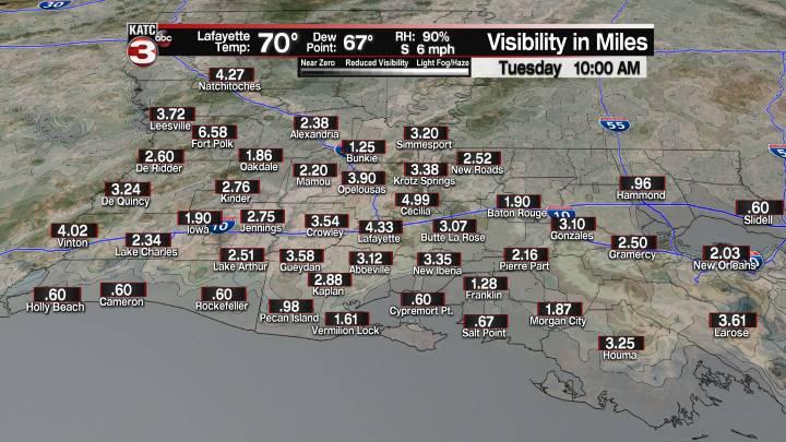 Fog Forecast 10 am
