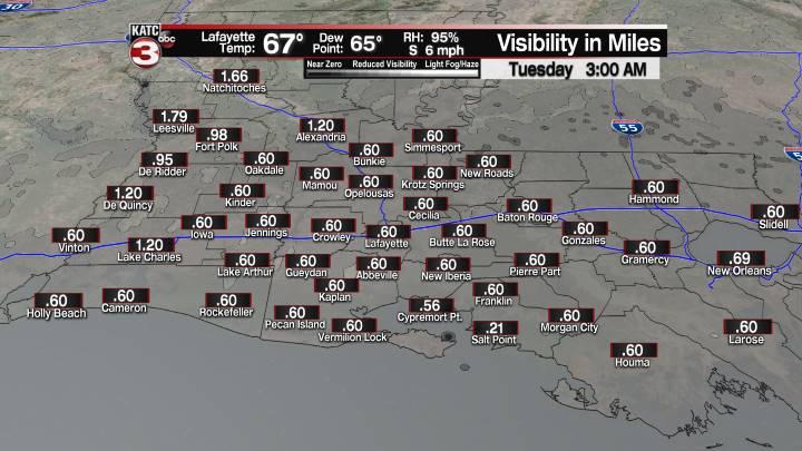 Fog Forecast 3 am