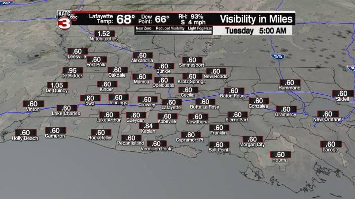 Fog Forecast 5 am