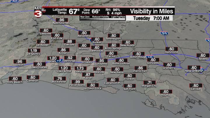 Fog Forecast 7 am