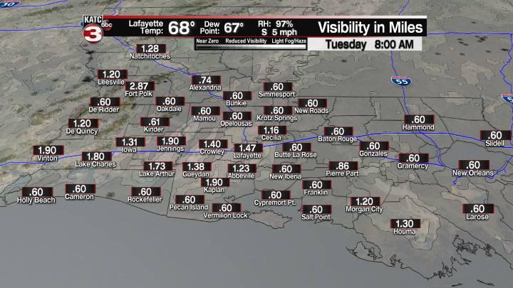 Fog Forecast 8 am