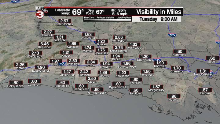Fog Forecast 9 am