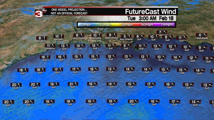 FutureCast 15 Hour Offshore Winds