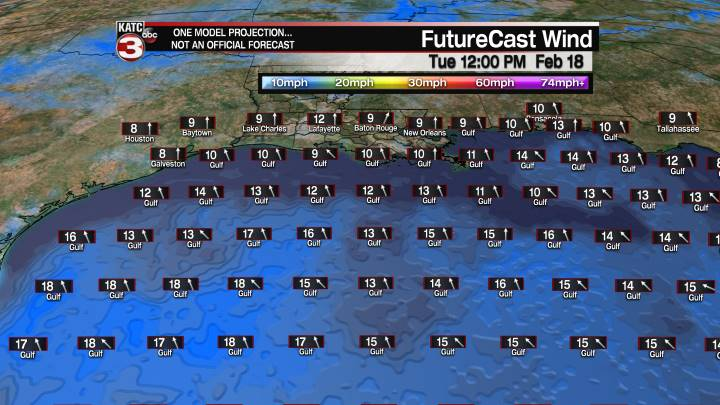 FutureCast 24 Hour Offshore Winds