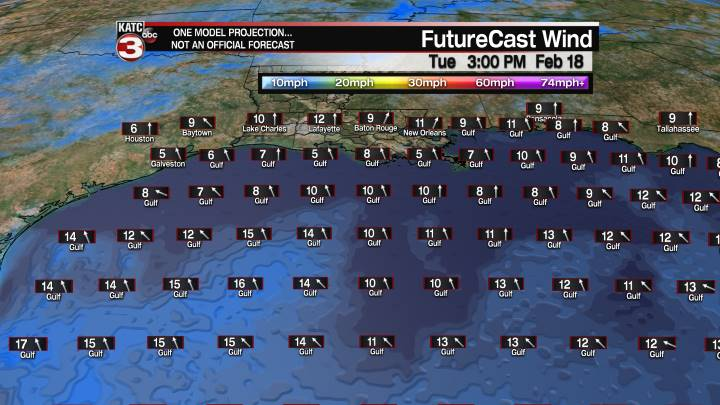 FutureCast 27 Hour Offshore Winds