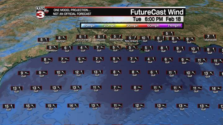 FutureCast 30 Hour Offshore Winds