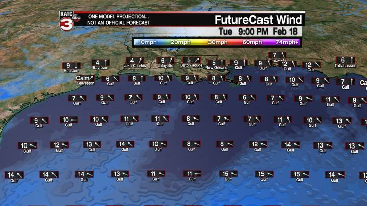 FutureCast 33 Hour Offshore Winds