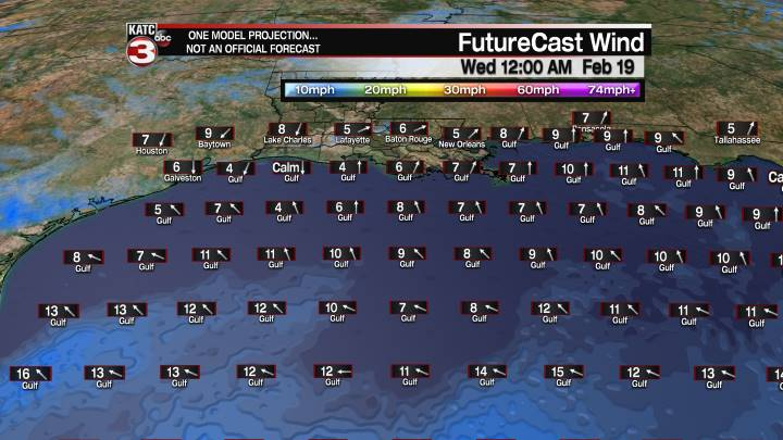 FutureCast 36 Hour Offshore Winds