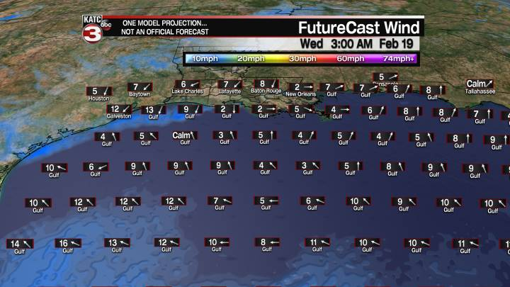 FutureCast 39 Hour Offshore Winds