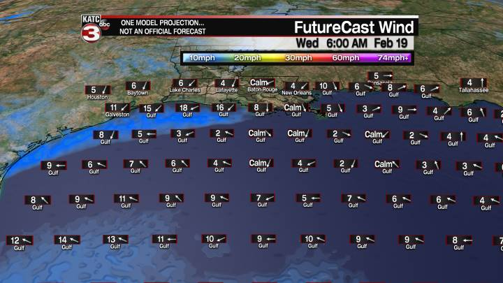 FutureCast 42 Hour Offshore Winds
