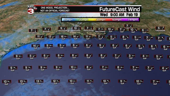 FutureCast 45 Hour Offshore Winds