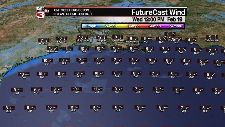 FutureCast 48 Hour Offshore Winds