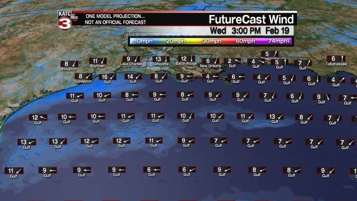 FutureCast 51 Hour Offshore Winds