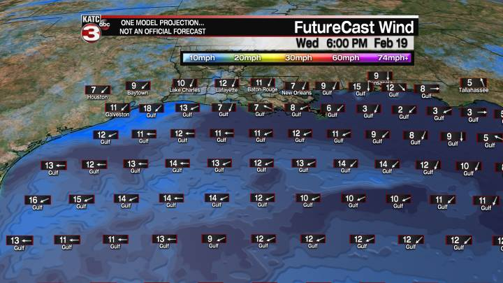 FutureCast 54 Hour Offshore Winds