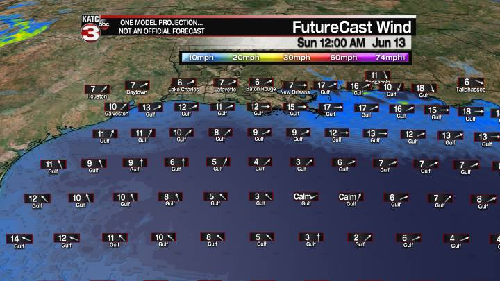 FutureCast 60 Hour Offshore Winds