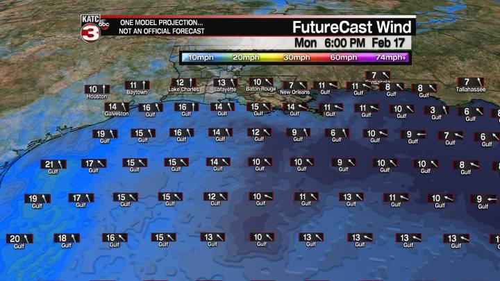 FutureCast 6 Hour Offshore Winds
